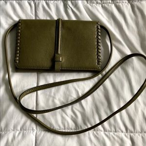Olive green fossil crossbody